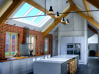 Mellor Barns  -  Staffordshire:  Kitchen by Alrewas Architecture Ltd
