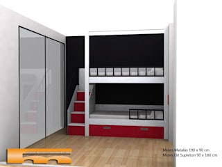 Litera a medida Escalera Lateral | Habitación Infantil | Vallromanes| Christian Dormitorios de estilo moderno de Fusteriamanel.com Moderno