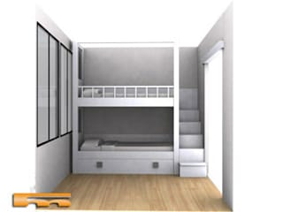 Litera a medida Escalera Lateral | Habitación Infantil | Barcelona | Manel Dormitorios infantiles de estilo moderno de Fusteriamanel.com Moderno