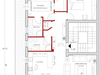 Salon original par francesca ravidà architetto | interior designer Éclectique
