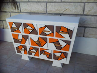 commode en carton (11 tiroirs) original et unique:  de style  par ManalueCarton