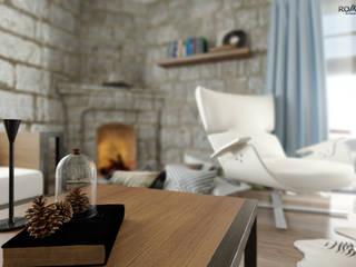 ROAS ARCHITECTURE 3D DESIGN AGENCY Livings de estilo mediterráneo
