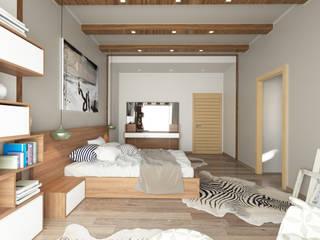 The Bedroom View2 Modern Yatak Odası ROAS ARCHITECTURE 3D DESIGN AGENCY Modern