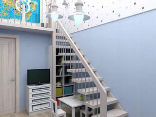 Dormitorios infantiles de estilo mediterráneo de Студия дизайна и декора Светланы Фрунзе Mediterráneo