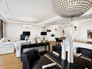 现代客厅設計點子、靈感 & 圖片 根據 ELIZABETH STUDIO DESIGN 現代風