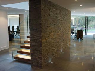 Nairn Road, Canford Cliffs Modern corridor, hallway & stairs by David James Architects & Partners Ltd Modern