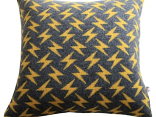 Knitted Lightening Bolt Cushion : modern  by Bob&John Knitwear, Modern