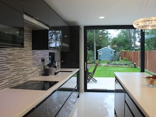 New Malden, Surrey Consultant Line Architects Ltd Cocinas de estilo moderno