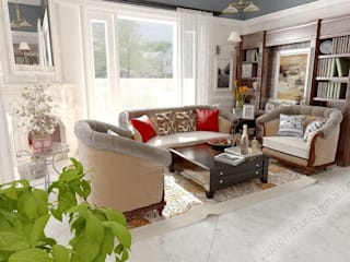 Interior 3D Design Living Room Classic style living room by azvission Classic