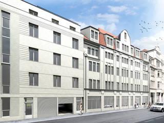 3D Visualisierung eines Mehrfamilienhauses in Leipzig:   von mh-visualisierung