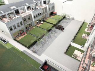 Neubau Stadtvillen im Innenhof:  Häuser von mh-visualisierung