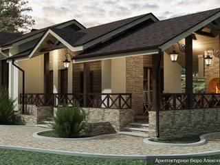 Проект одноэтажной бани из керамического блока porotherm:  в . Автор – Архитектурное бюро Алексея Сухова