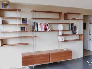 """Bibliothèque """"C"""" vue face:  de style  par Marie SiudaK SARL"""