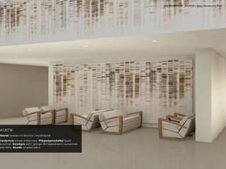 Schalldämpfende grossflächige Dekorationen tela-design Moderne Hotels