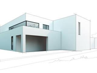 Вилла в Анапе в стиле минимализм: Дома в . Автор – Галерея интерьеров 'Angelica Marzoeva',