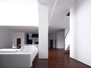 Вилла в Анапе в стиле минимализм: Гостиная в . Автор – Галерея интерьеров 'Angelica Marzoeva',