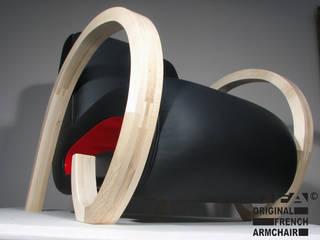 modèle  Mortimer cuir:  de style  par OFA Orginal French Armchair / Gotham art.3