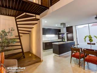 Vestíbulo Pasillos, vestíbulos y escaleras minimalistas de Grupo Arquidecture Minimalista