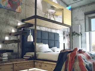 Bedroom by ToTaste.studio, Industrial