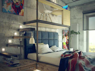 ToTaste.studio Industrial style bedroom