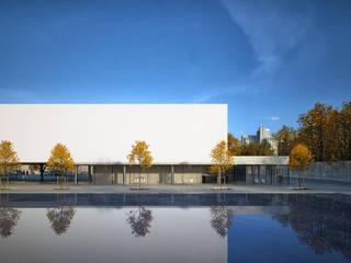 EMBASSY OF THE UAE / ASTANA Lenz Architects Конференц-центры в стиле минимализм