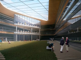 UNIVERSITY CAMPUS / ASTANA Lenz Architects Школы в стиле модерн