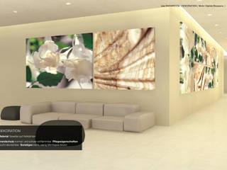 grossflächige Bildensembles von tela 100 Moderne Hotels von tela-design Modern