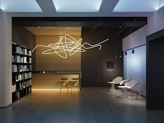 Галерея современного искусства. Екатеринбург Dmitriy Khanin Коридор, прихожая и лестница в стиле минимализм