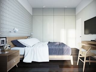 Scandinavian style bedroom by NK design studio Scandinavian