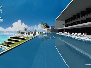 Wellness Spa Hotel, Rio De Janeiro, Brasil: Гостиницы в . Автор – Svetozar Andreev Architectural Studio: Hotei-Russia