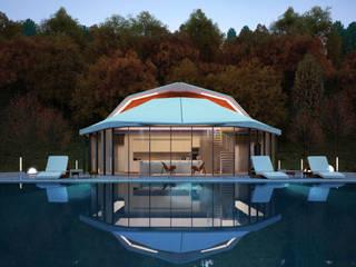 КОНЦЕПТ ВИЛЛЫ / АЛМАТЫ Lenz Architects Дома в стиле модерн