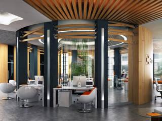 CAPITAL BANK KAZAKHSTAN / АЛМАТЫ / ВАРИАНТ А Lenz Architects Офисные помещения в стиле модерн