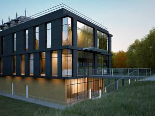 BUSINESS CENTER / RADLOVA STR, ALMATY Lenz Architects Офисные помещения в стиле модерн