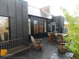 Rénovation d'un appartement centre ville Fougères Balcon, Veranda & Terrasse industriels par NEWDECO Industriel