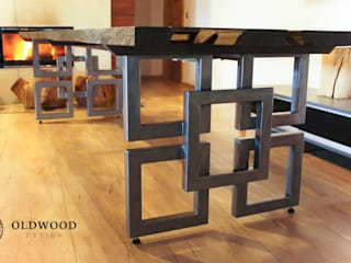 Stół z czarnego dębu 1600 lat od Old Wood Design Rustykalny