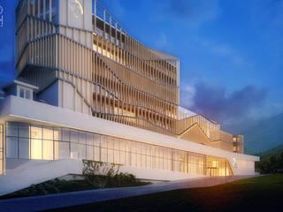 Hotel Modern Oleh Pracownia projektowa artMOKO Modern