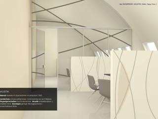Raumteiler, Wand- und Deckendekoration, Glastrennwand tela-design Minimalistische Bürogebäude