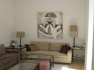 REFORMA APARTAMENTO. C/LAGASCA. MADRID. 2012 Salones de estilo moderno de Bescos-Nicoletti Arquitectos Moderno