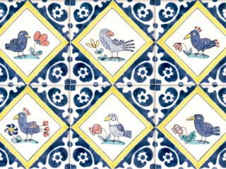 Hand painted Delft tiles de Reptile tiles & ceramics Clásico