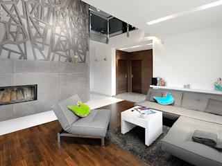 CZAR GEOMETRII: styl , w kategorii Salon zaprojektowany przez Pracownia projektowa artMOKO