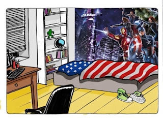 Marvel Super Heroes Murals Paper Moon Walls & flooringWallpaper