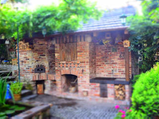 Balcones y terrazas de estilo rústico de Kuchnia w Ogrodzie Rústico