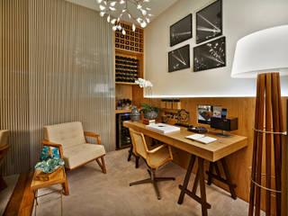Estudios y despachos de estilo minimalista de Ana Paula Carneiro Arquitetura e Interiores Minimalista