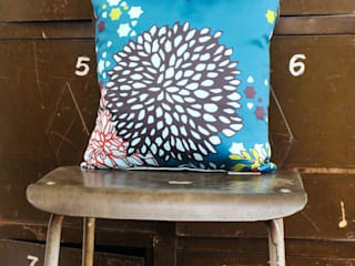 Chrysanthemum Print Cushion:   by stylechapel