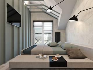 Дизайн проект загородного дома Спальня в скандинавском стиле от Cтудия 'ART Story' Скандинавский
