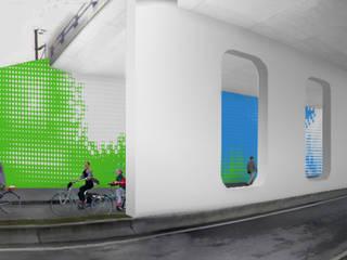 Painel cerâmico 'Da água ao jardim':   por Ânia Gabriel Abrantes arquitectura