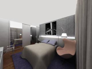 Quarto Coração Eucarístico Modern style bedroom by Luiza Pacheco Arquitetura Modern