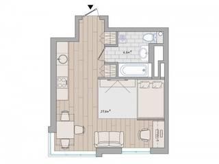 Дизайн проект квартиры:  в современный. Автор – Cтудия 'ART Story', Модерн