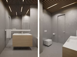 Дизайн проект квартиры Ванная комната в стиле модерн от Cтудия 'ART Story' Модерн