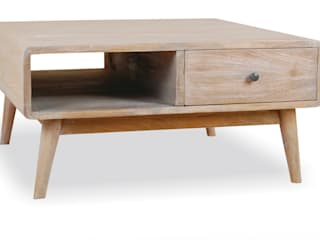 Retro style coffee table with drawer from our Cove furniture range:   by Big Blu Furniture